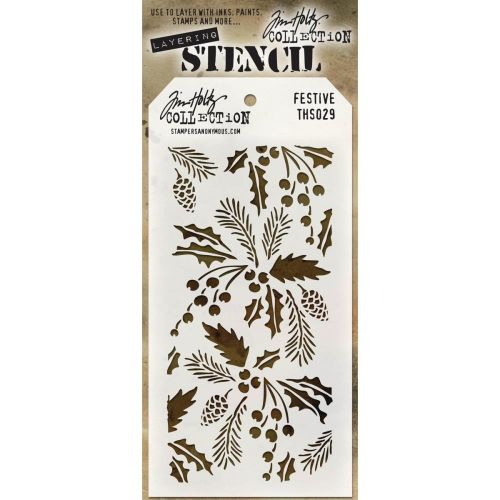 Tim Holtz Layering Stencil Festive (OUT OF STOCK)