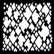 Woodware Diamond Mesh Stencil