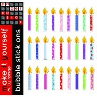 Birthday Candle Bubble Stickers