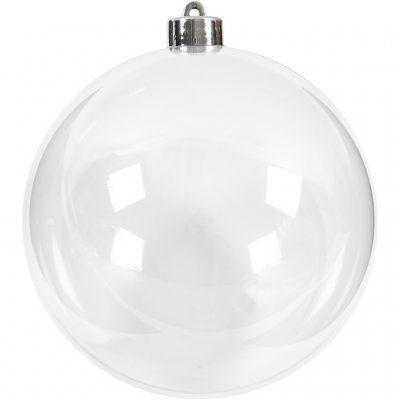 Clear Plastic Fillable Bauble 13.6cm