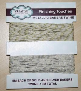 Gold and Silver Metallic Bakers Twine