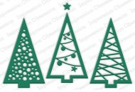 Three Christmas Trees Die Cutting Set