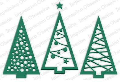 Three Christmas Trees Die Cutting Set | Wild Warehouse
