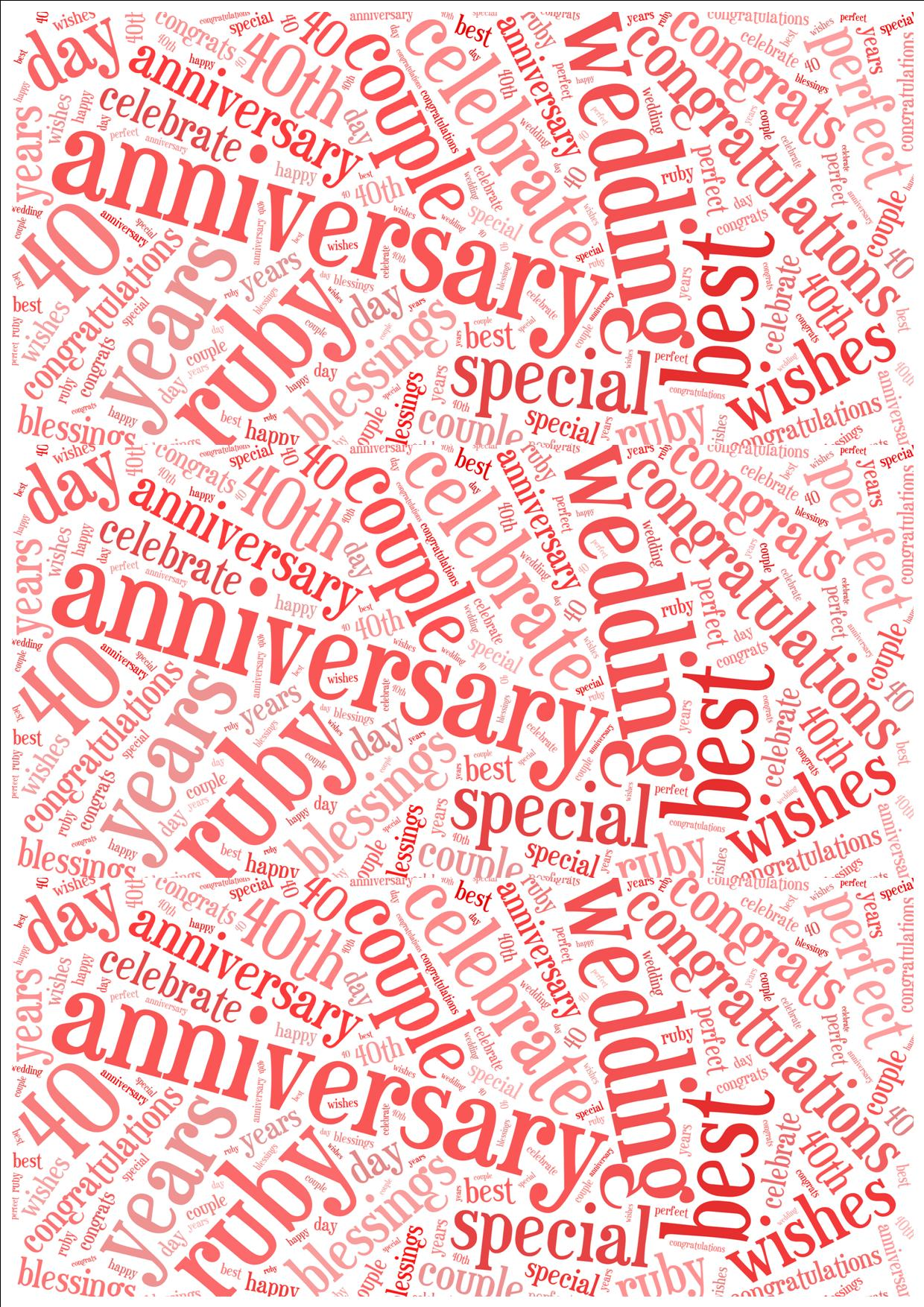 Word 2013 Anniversary Card