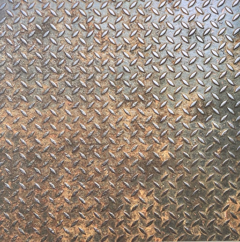 Rusted boilerplate patterned paper