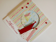 Christmas shaker card with Christmas trees and sequins