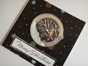 Shaker card with Woodland Christmas topper set and chunky glitter