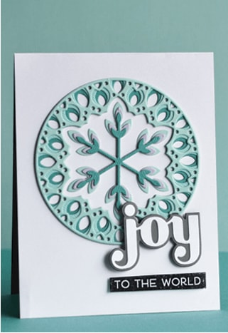 Hand made Christmas card using Birch Press Big Joy die set