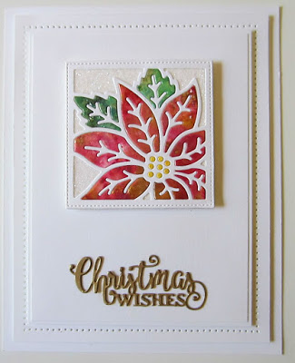 Christmas card with Christmas wishes mini expressions die