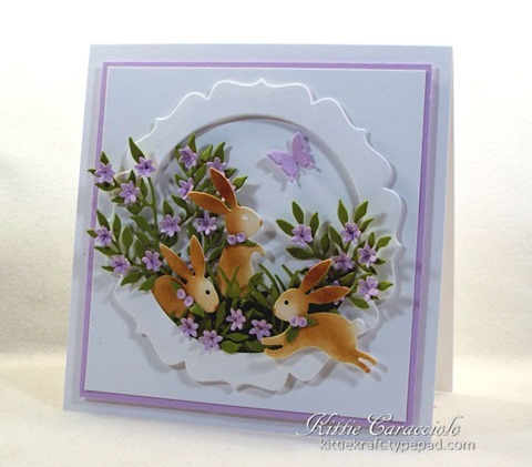 hand made card using the tiny flowers die cutter
