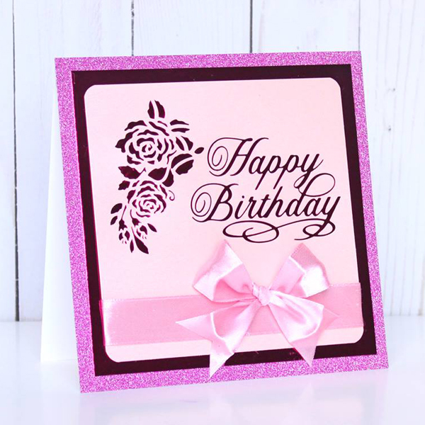 Birthday card using Happy Birthday hot foil stamp