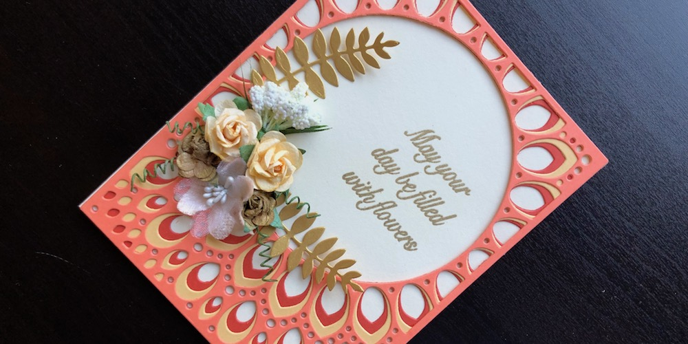 Birch Press Grace layering die with flowers card